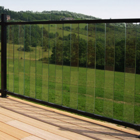 FE26 Iron Glass Balusters for Pure View Glass Rail by Fortress