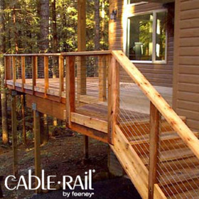 Let your Cedar, Hardwood or Ipe deck posts shine with the enhancing 3/16 Inch CableRail Kit for Wood Posts by Feeney.