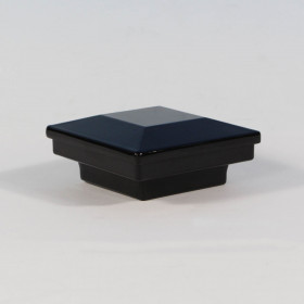 FE26 Steel Flat Pyramid Post Cap By Fortress - Gloss Black