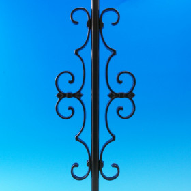 Fleur de lis Centerpiece for Round Baluster by Deckorators