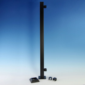 FE26 Steel Post with Pre-Installed Universal Brackets by Fortress - End Post Components