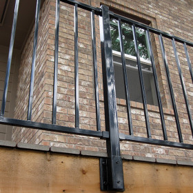 FE26 Fascia Post by Fortress - Gloss Black