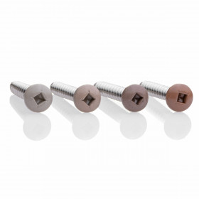 Four color-matching options of the Color Matched Stainless Steel Screws for Genovations Decking are available for increased strength when installing.