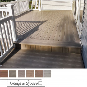 Install the Genovations Perimeter Deck Boards to picture-frame your deck design and complete your layout.