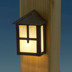 Golden Gate LED Rail Light by Highpoint Deck Lighting - Lit