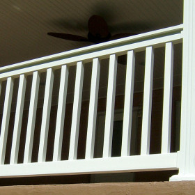 The Harrington Vinyl Deck Railing by Durables - White