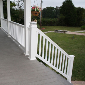 The Harrington Vinyl Stair Rail by Durables - White