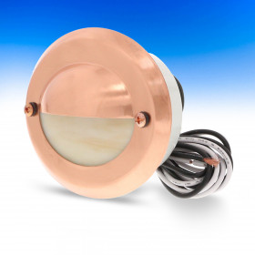 Estes Recessed LED Riser Light by Highpoint Deck Lighting - Copper