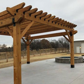 Ironwood Deck Pergola Project Kit for 6x6 Posts by OZCO Ornamental Wood Ties