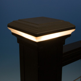 Flat Top Halo LED Post Cap Light by KeyLink
