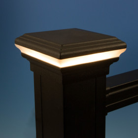Pyramid Halo LED Post Cap Light by KeyLink  - Lit