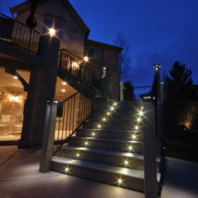 Help your outdoor space look even bigger with bright Recessed LED Angled Lights by Dekor lighting the way.