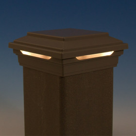 Trex Flat Top LED Post Cap Light