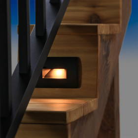 Keep high foot-traffic areas safe with the Deckorators ALX Luna Recessed Stair Light in Black.