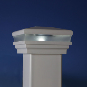 Neptune Solar Post Cap Light by LMT Mercer - White