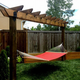 Laredo Sunset Arbor Hammock Project Kit by OZCO Ornamental Wood Ties