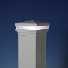 Neptune Low Voltage LED Post Cap Light by LMT Mercer - White - Cool White