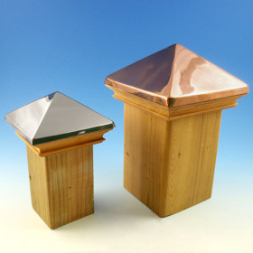 Nokomis Miterless Pyramid Post Cap - Stainless Steel & Copper