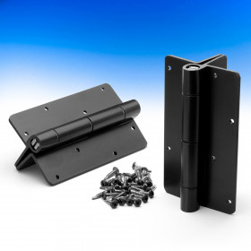 Aluminum Adjustable Self-Closing Gate Hinge by Nationwide Industries - Black - Post Mount