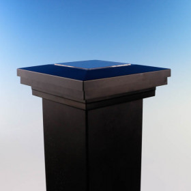 Ornamental Solar Collecting Post Cap - 3-11/16 inch - Black