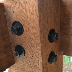 Heavy Duty Timber Bolt Washer by OZCO Ornamental Wood Ties - Installed