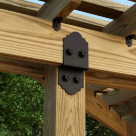 Laredo Sunset OWT Lite Post to Beam Connector by OZCO Ornamental Wood Ties