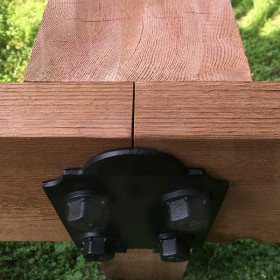 Laredo Sunset 8 Inch Post to Beam Coupler by OZCO Ornamental Wood Ties
