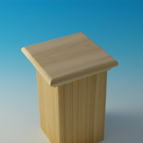 Pelham Thin Flat Top Post Cap by Acorn Deck Products