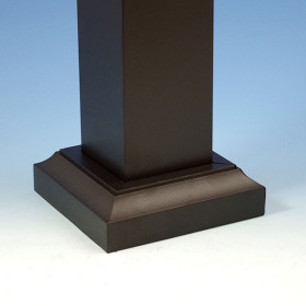 Prestige Aluminum Post Skirt - Installed (Absolute Black)