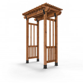 Laredo Sunset Garden Arbor Project Kit for 4x4 Posts by OZCO Ornamental Wood Ties