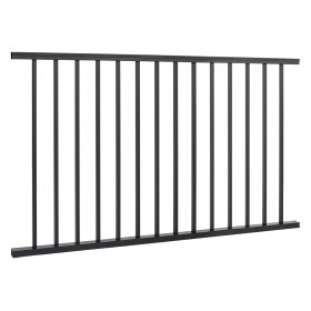 Trex Signature Horizontal Rail Panel - Available in Charcoal Black
