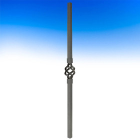 Dekor Single Basket Square Balusters - Oil Rubbed Bronze