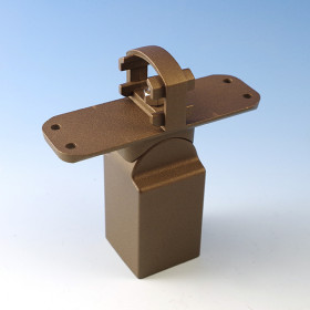 Stair Crossover Bracket for Westbury Aluminum Railing - Bronze Fine Texture