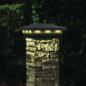 Solar Post Cap for Cast Stone Post Cover by Deckorators