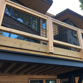 Tahoe Woven Mesh Panels by Wild Hog Railing - Powder Coat Matte Black