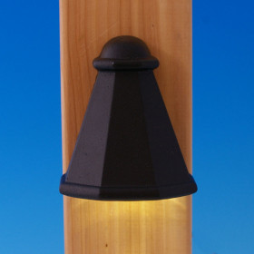 Teardrop LED Rail Deck Light - Antique Metal Black