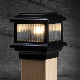 Titan LED Post Cap Light by Aurora Deck Lighting