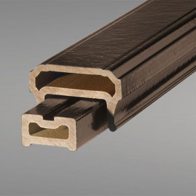 CXT Pro Contemporary Top Rail by Deckorators - Dark Walnut - 8 ft