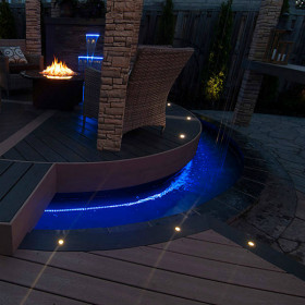 Recessed LED Light by Trex DeckLights - Installed in an outdoor oasis