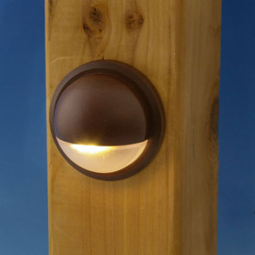 LED Rail Light by Trex DeckLights - Hammered Bronze