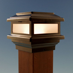 Triton Post Cap by Aurora Deck Lighting - Black