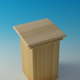 Tucson Thin Flat Top Post Cap by Acorn Deck Products-5-5/8 in-Cedar