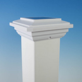 """Solar Post Cap Light for 4"""" Post Sleeves by Ultra Bright"""