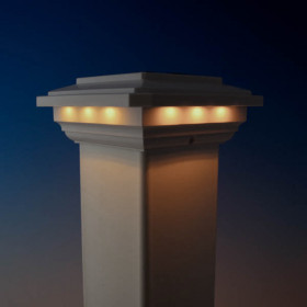 "Solar Post Cap Light for 4"" Post Sleeves by Ultra Bright Technologies"