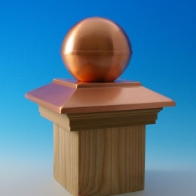 Victoria Copper Ball Top Post Cap By Deckorators