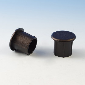 Internal Handrail End Cap by Westbury Aluminum Railing - Black Fine Texture (Sold Individually)