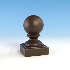 "Ball Top Post Cap for Westbury Aluminum Railing - 2-1/16"" Bronze Fine Texture"