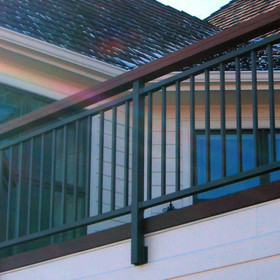 Tuscany Fascia Post with Bracket by Westbury Aluminum Railing