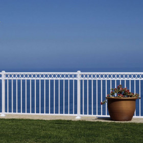 "Riviera ""R"" Level Rail Section Kits By Westbury Aluminum Railing"