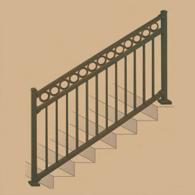 "Riviera ""R"" Stair Rail Section Kits By Westbury Aluminum Railing"